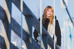 Elina Saarenpää TFCD Sotisaaren riippusillalla